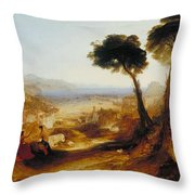 The Bay Of Baiae With Apollo And The Sibyl Throw Pillow
