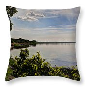 The Bay Of Green Bay Throw Pillow