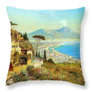 The Bay Of Naples Throw Pillow