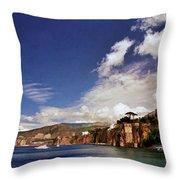 The Bay Of Sorrento Throw Pillow