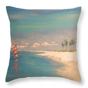 The Bay Throw Pillow by The Beach  Dreamer