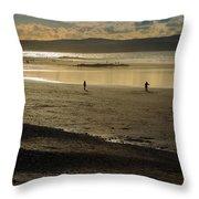 The Beach At Mounts Bay Throw Pillow