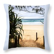 The Beach At Salt Throw Pillow