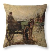 The Beach At St Ives Throw Pillow