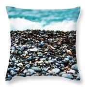 The Beach Of Rocks Throw Pillow