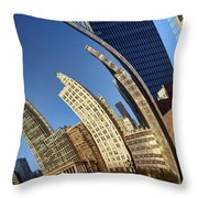 The Bean - 1 - Cloud Gate - Chicago Throw Pillow