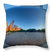 The Bean In Chicago Throw Pillow