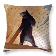 Come And Get Me Down From Here...signed The Bear Throw Pillow