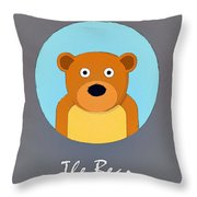 The Bear Cute Portrait Throw Pillow