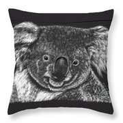 The Bear From Down Under Throw Pillow