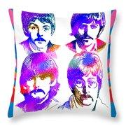 The Beatles Art Throw Pillow