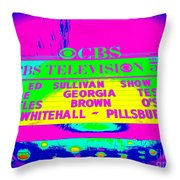 The Beatles Debut On Ed Sullivan Throw Pillow