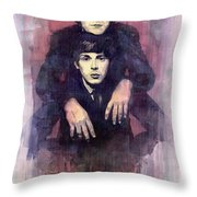 The Beatles John Lennon And Paul Mccartney Throw Pillow by Yuriy  Shevchuk