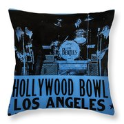 The Beatles Live At The Hollywood Bowl Throw Pillow