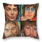 The Beatles Quad Throw Pillow