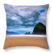 The Beautiful Cannon Beach Throw Pillow