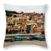 The Beautiful Colors Of Lisbon Throw Pillow