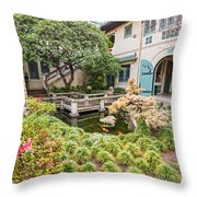 The Beautiful Courtyard Of The Pacific Asia Museum In Pasadena. Throw Pillow