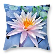 The Beautiful Lily Pond Throw Pillow