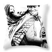 Peruvian Smile Throw Pillow