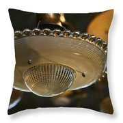 The Beauty Of A Vintage Glass Ceiling Light Throw Pillow