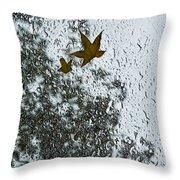 The Beauty Of Autumn Rains - A Vertical View Throw Pillow