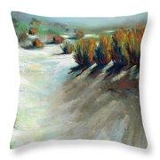 Desert Snow Throw Pillow