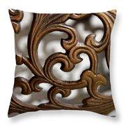The Beauty Of Brass Scrolls 2 Throw Pillow