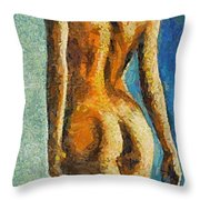 The Beauty Of Female Body Throw Pillow