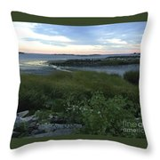 The Beauty Of Long Island Sound Throw Pillow