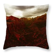 The Beauty Of Zion Natinal Park Throw Pillow