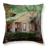 The Beckley House Throw Pillow by Gunter Nezhoda