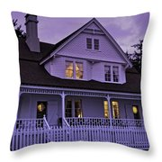The Bed And Breakfast At Heceta Throw Pillow
