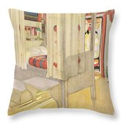 The Bedroom, Published In Lasst Licht Throw Pillow
