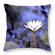 The Bee And The Dragonfly Throw Pillow