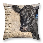 The Beef Industry Throw Pillow