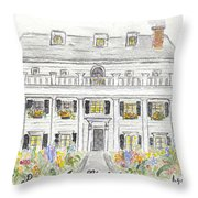 The Beekman Arms In Rhinebeck Throw Pillow