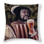 The Beer Drinker Throw Pillow
