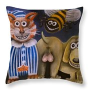 The Bees Knees The Cats Pyjamas And The Dogs Bollocks Throw Pillow