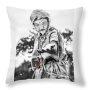 The Begging Leprous Throw Pillow