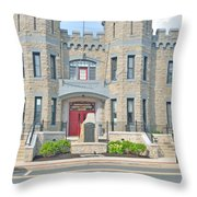 The Bel Air Maryland Armory 2 Throw Pillow