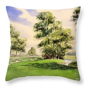 The Belfry Brabazon Golf Course 10th Hole Throw Pillow