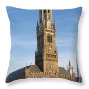 The Belfry Of Bruges Throw Pillow