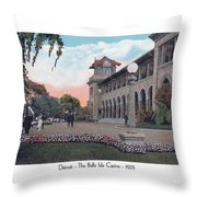 The Belle Isle Casino - Detroit - 1923 Throw Pillow
