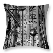 The Bells Of Coney Island In Black And White Throw Pillow