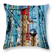 The Bells Of Coney Island Throw Pillow