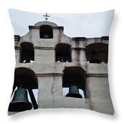 The Bells Of Mission San Gabriel Arcangel Throw Pillow