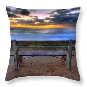 The Bench II Throw Pillow