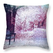 The Bench Of Promises Throw Pillow