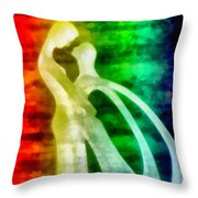 The Benediction Of The Neon Light Throw Pillow